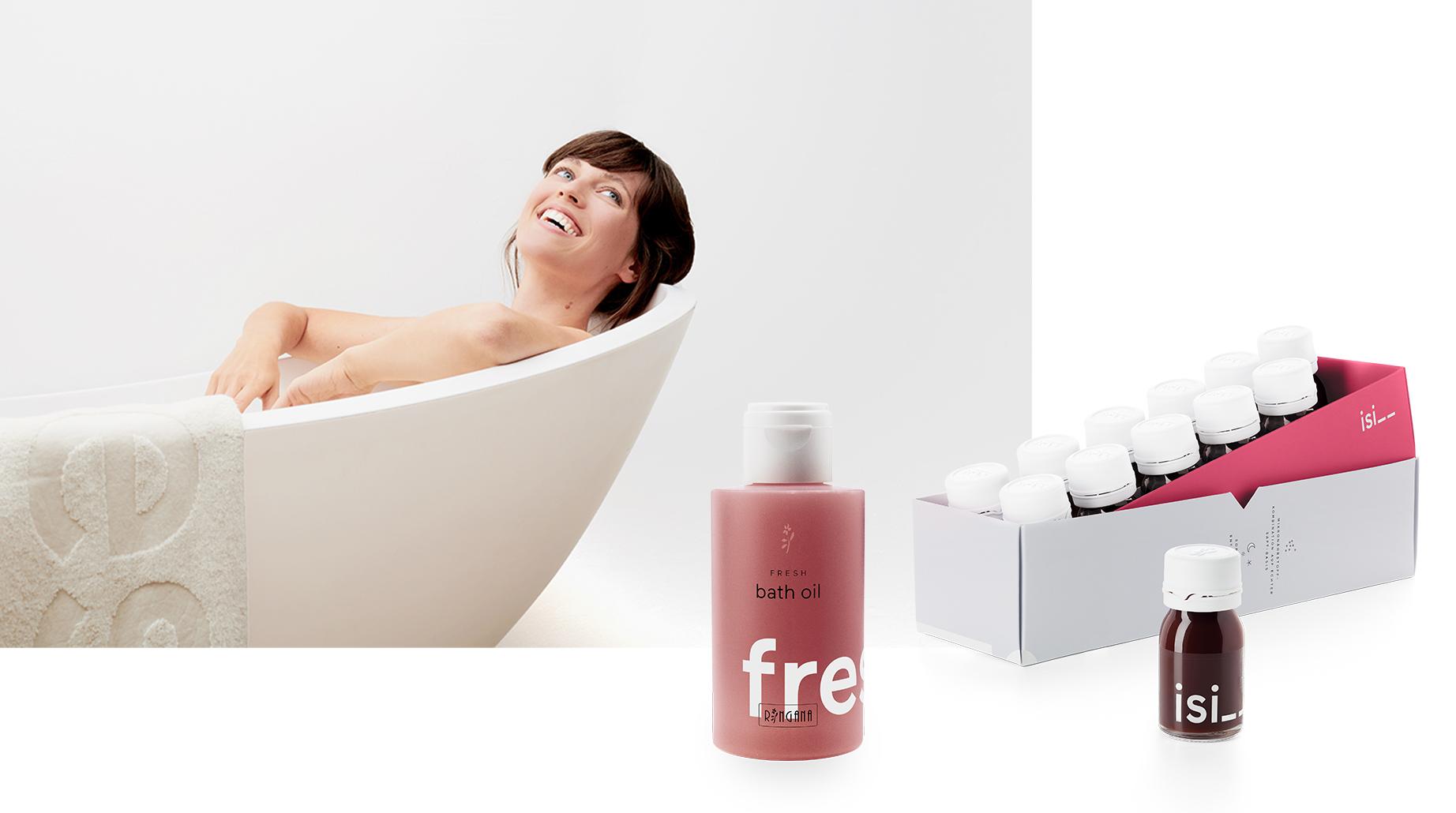 FRESH bath oil and RINGANAisi__